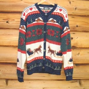 Vintage Woolrich Wool Blend Christmas Cardigan